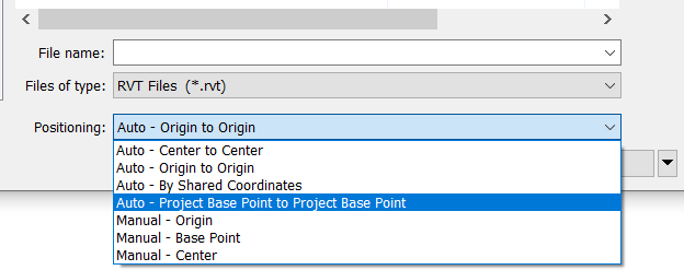 Project Base Point Option for Inserting