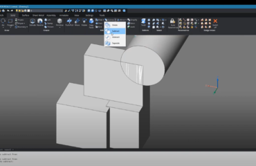 Combining 3D Solid Models in BricsCAD
