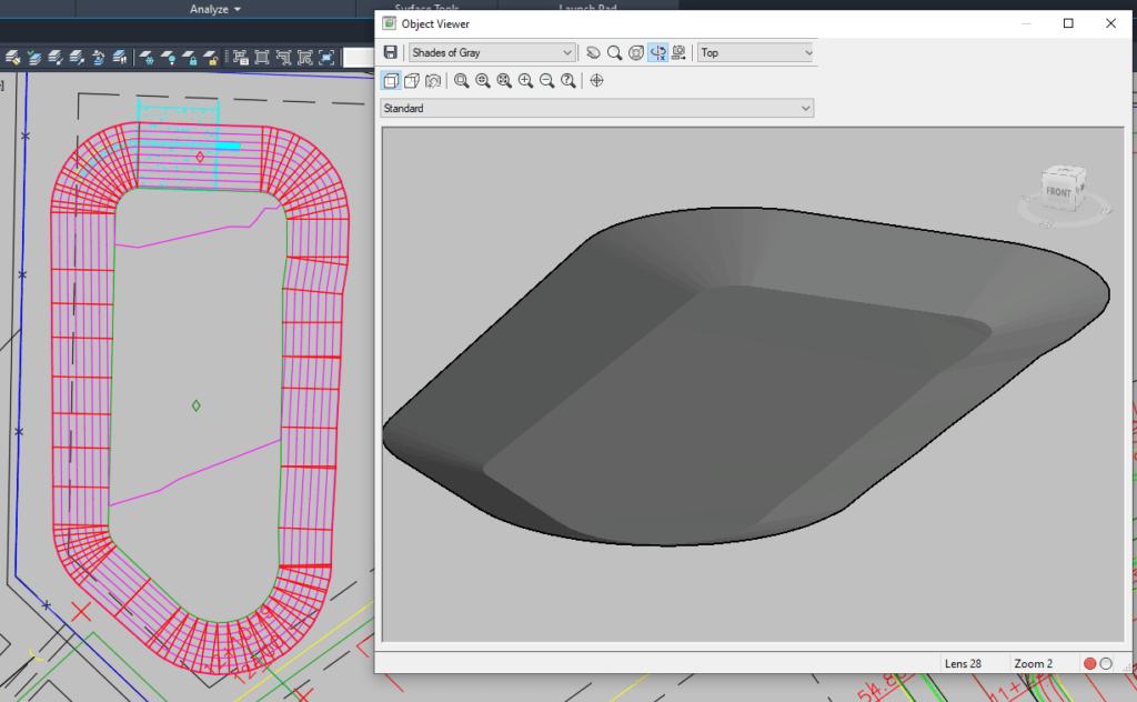 Civil 3D - 3D Detention Pond