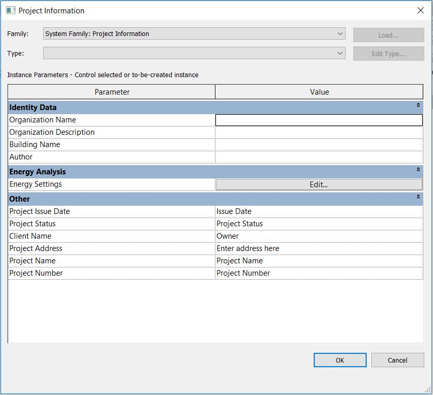 Revit Project Templates