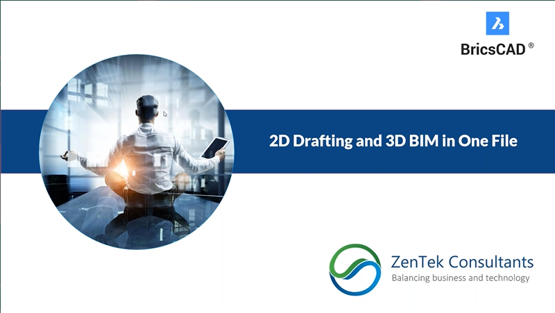 2D Drafting and 3D BIM in One File