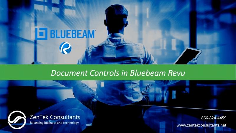 Document Controls in Bluebeam Revu